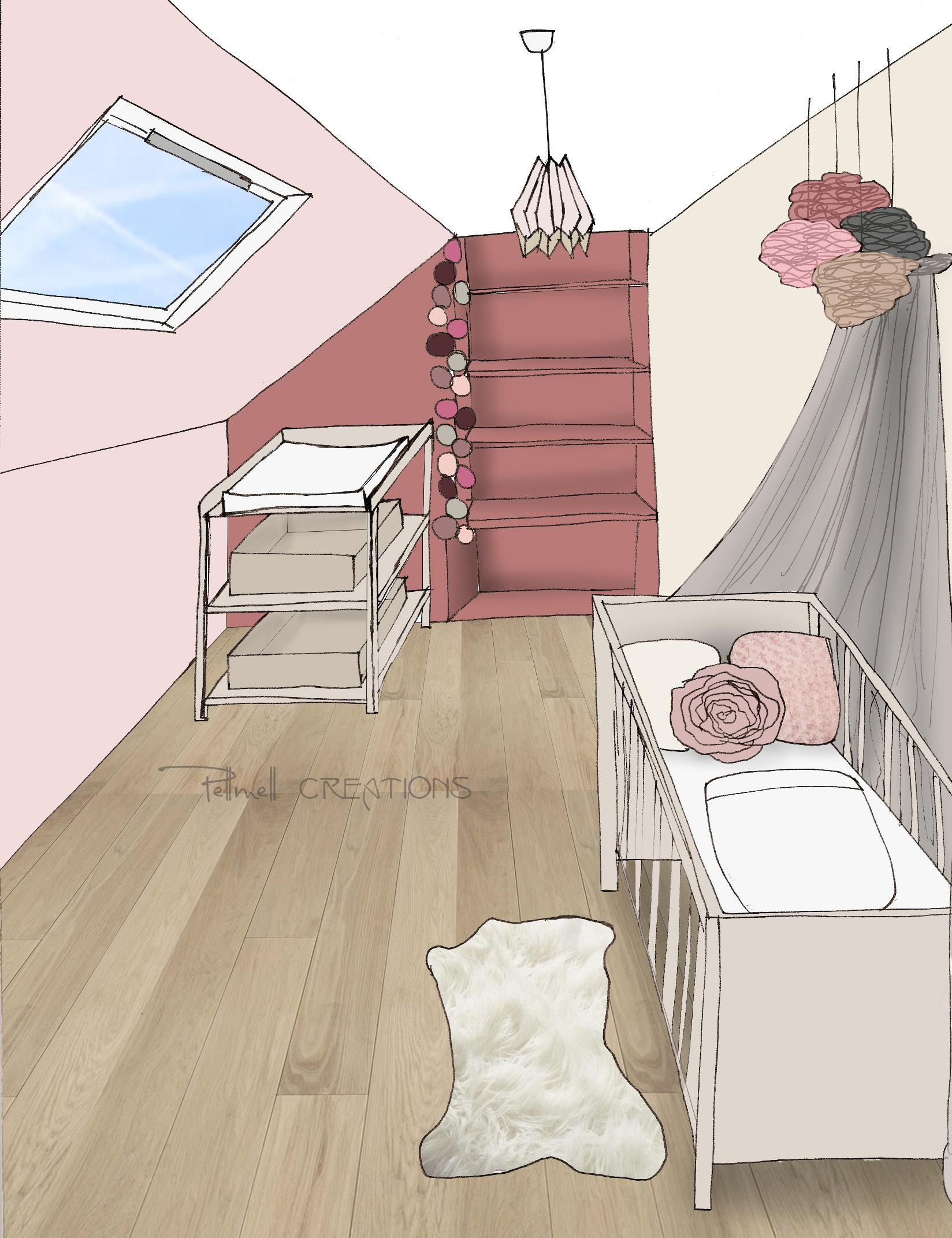 Chambre Rose Poudré Fille une chambre bébé rose poudré et violet - pellmell déco