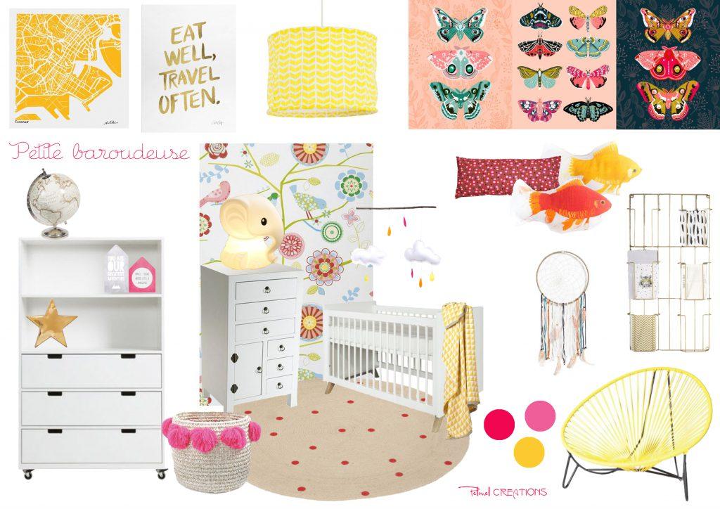 Une Chambre Bebe Pour Une Petite Baroudeuse Pellmell Deco