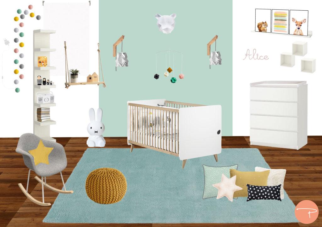 Une chambre bébé moderne avec de l\'Origami - Pellmell Déco