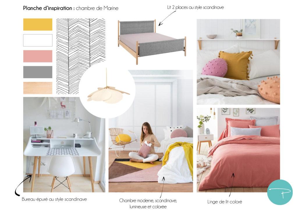 Une chambre d\'ado scandinave et colorée - Pellmell Déco
